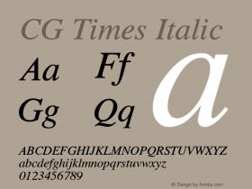 CG Times Italic 19: 92501图片样张
