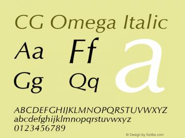 CG Omega Italic 19: 92507图片样张