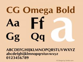 CG Omega Bold 19: 92510图片样张