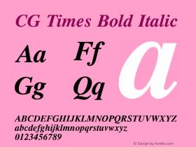 CG Times Bold Italic 19: 92505图片样张