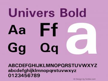 Univers Bold 19: 94023 Font Sample