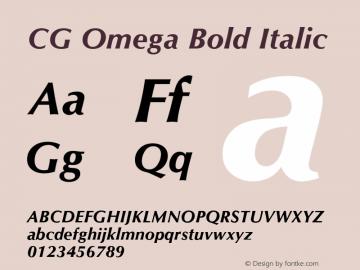 CG Omega Bold Italic 19: 92511图片样张