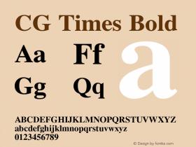 CG Times Bold 19: 92504图片样张