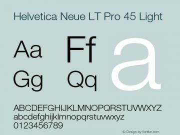 HelveticaNeueLT Pro 45 Lt Version 1.00 Build 1000图片样张
