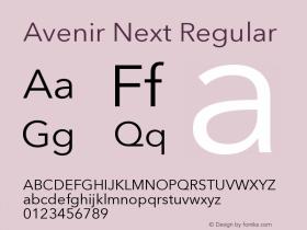 Avenir Next Regular 8.0d2e1图片样张