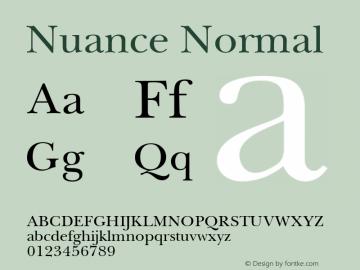 Nuance Normal Macromedia Fontographer 4.1 18.06.1995图片样张