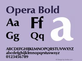 Opera Bold Macromedia Fontographer 4.1 18.06.1995图片样张