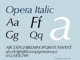 Opera Italic Macromedia Fontographer 4.1 18.06.1995图片样张