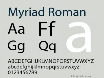 Myriad Roman Macromedia Fontographer 4.1.3 11/29/01图片样张