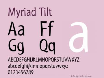 Myriad Tilt Macromedia Fontographer 4.1.3 29/11/01图片样张