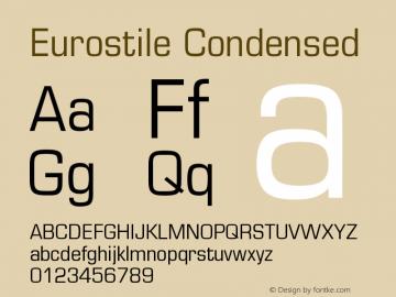 Eurostile Condensed Version 001.002图片样张