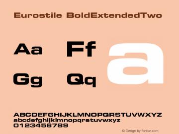 Eurostile Bold Extended #2 Version 001.002图片样张