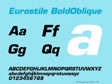Eurostile Bold Oblique Version 001.001图片样张
