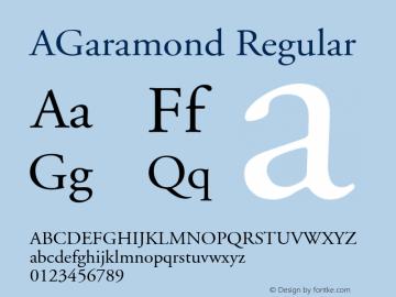 AGaramond Font,Adobe Garamond Regular Font,AGaramond-Regular