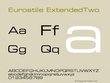 Eurostile Extended #2 Version 001.002图片样张