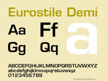 Eurostile Demi Version 001.001图片样张