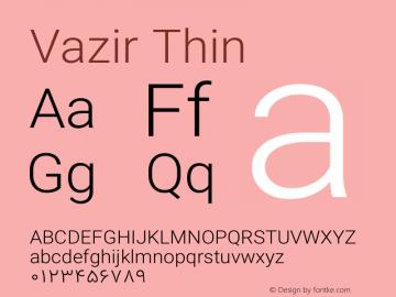 Vazir Thin Version 13.0.0图片样张