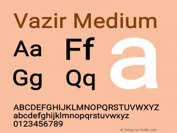 Vazir Medium Version 13.0.0图片样张