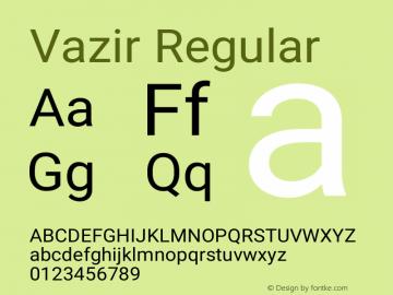 Vazir Version 13.0.0图片样张