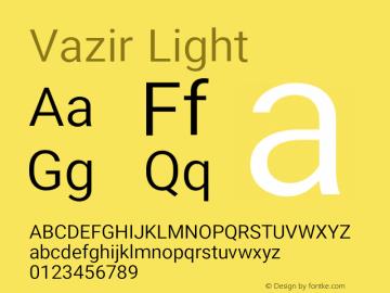 Vazir Light Version 13.0.0图片样张