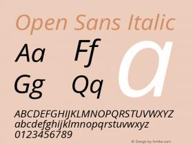 Open Sans Italic Version 1.10图片样张