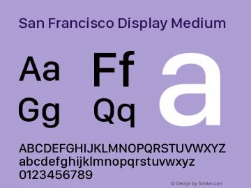 San Francisco Display Medium Version 1.00 April 16, 2015, initial release图片样张