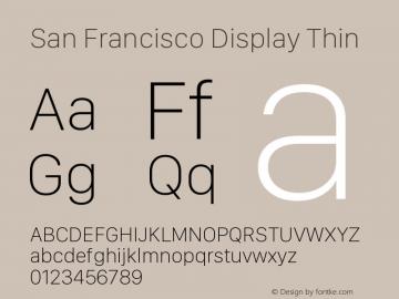 San Francisco Display Thin Version 1.00 April 16, 2015, initial release图片样张
