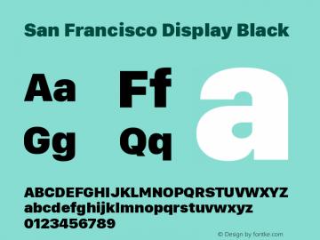 San Francisco Display Black Version 1.00 April 16, 2015, initial release图片样张