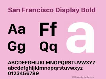 San Francisco Display Bold Version 1.00 April 16, 2015, initial release图片样张