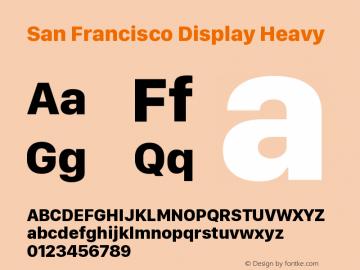 San Francisco Display Heavy Version 1.00 April 16, 2015, initial release图片样张