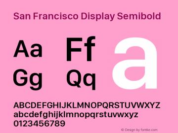 San Francisco Display Semibold Version 1.00 April 16, 2015, initial release图片样张