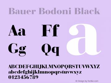 Bauer Bodoni Black Version 003.001图片样张