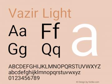 Vazir Light Version 13.0.1图片样张
