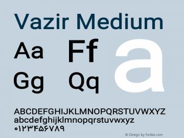 Vazir Medium Version 13.0.1图片样张