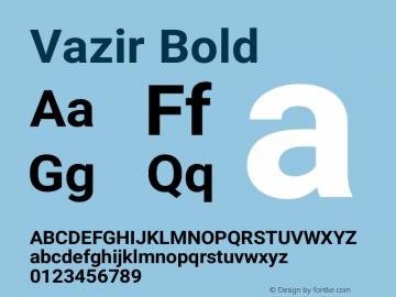 Vazir Bold Version 13.0.1图片样张