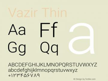 Vazir Thin Version 13.0.1图片样张