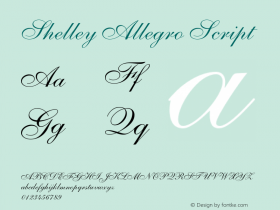 Shelley-AllegroScript OTF 1.0;PS 001.002;Core 1.0.22图片样张