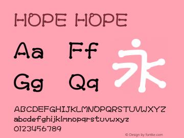 HOPE HOPEHOPE图片样张