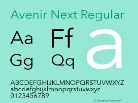 Avenir Next Version 8.00 December 29, 2014图片样张