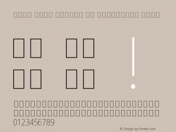 Noto Sans Arabic UI Condensed Thin Version 1.900 Font Sample