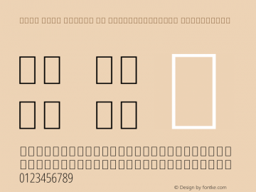 Noto Sans Arabic UI ExtraCondensed ExtraLight Version 1.900图片样张