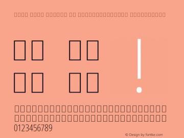 Noto Sans Arabic UI ExtraCondensed ExtraLight Version 1.900 Font Sample