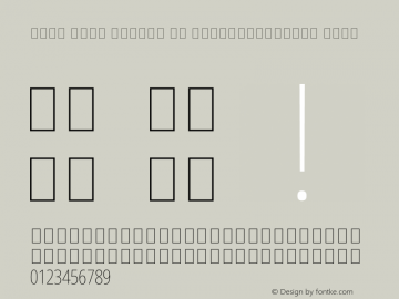 Noto Sans Arabic UI ExtraCondensed Thin Version 1.900图片样张