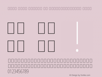 Noto Sans Arabic UI ExtraCondensed Thin Version 1.900 Font Sample