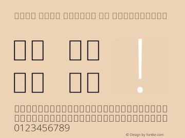 Noto Sans Arabic UI ExtraLight Version 1.900 Font Sample