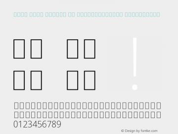 Noto Sans Arabic UI SemiCondensed ExtraLight Version 1.900 Font Sample