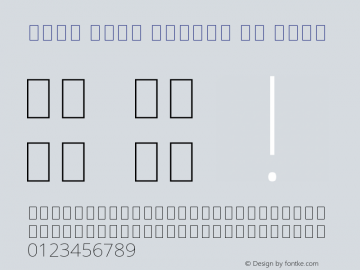 Noto Sans Arabic UI Thin Version 1.900 Font Sample