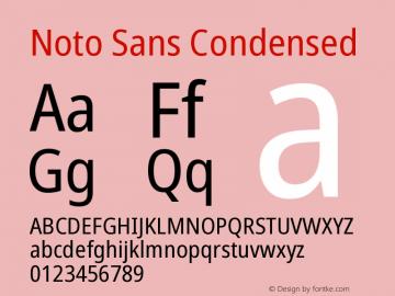 Noto Sans Condensed Version 1.902图片样张