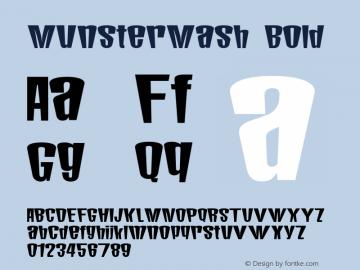 MunsterMash Bold Macromedia Fontographer 4.1 12/29/96 Font Sample