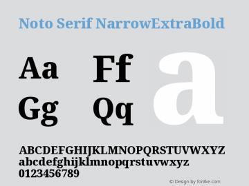 NotoSerif-NarrowExtraBold Version 1.001; ttfautohint (v1.6)图片样张
